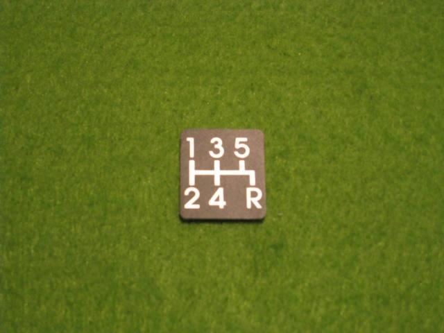 純正シフトパターンラベル(5MT)